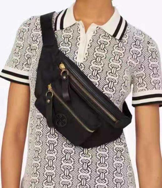 日本代購-Tory Burch時尚輕便尼龍斜背包腰包 agnes b.,東區時尚,腰包