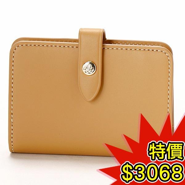 日本代購-agnes b.VOYAGE 簡約扣式牛皮卡夾零錢包(共二色) agnes b.,東區時尚,零錢包