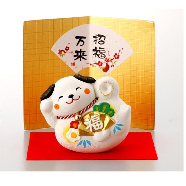 日本代購-新年開運招福萬來犬置物 日本代購,東區時尚,狗年,開運,招福