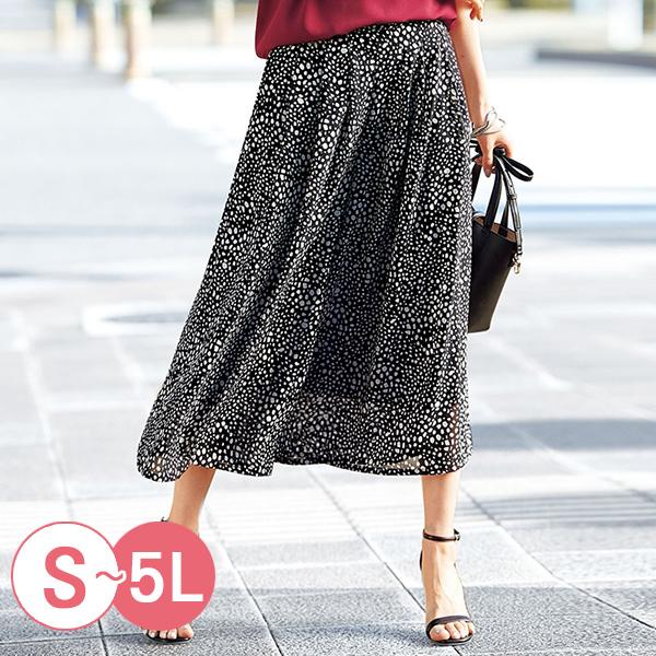 日本代購-優雅輕盈印花雪紡長褲裙(共四色/S-LL) 日本代購,雪紡,褲裙