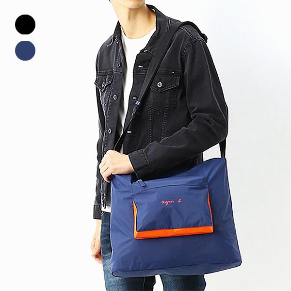 日本代購-agnes b. 輕量防水拉鍊配色大口袋運動型背包(共二色) agnes b.,東區時尚,斜背包