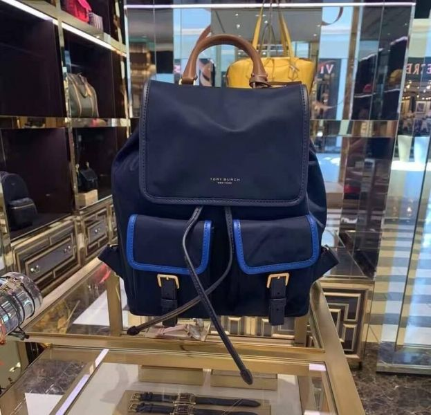 日本代購-Tory Burch Perry Nylon Color Block Flap Backpack撞色後背包 agnes b.,東區時尚,TB包