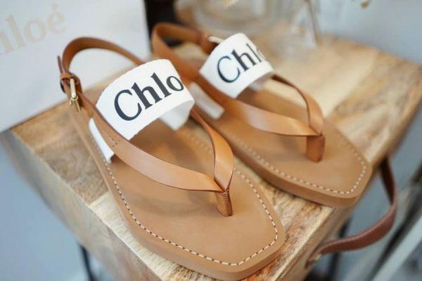 超值代購Chloé  WOODY LOGO 夾腳涼鞋 Chloé ,夾腳涼鞋