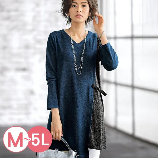 日本代購-豹紋拼接V領長版上衣(共四色/M-LL) 日本代購,豹紋,拼接