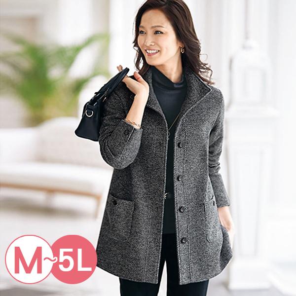 日本代購-portcros優雅混色設計大衣外套(共二色/3L-5L) 日本代購,portcros,大衣