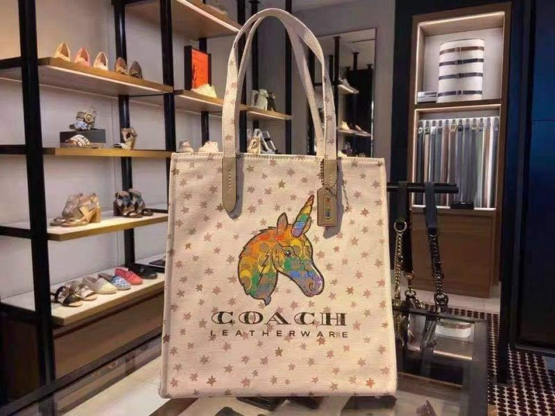 超值代購-COACH 獨角獸圖案帆布包(售價已折) 日本代購,COACH,獨角獸
