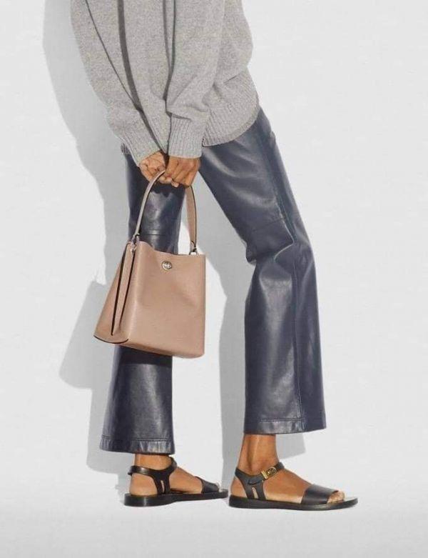 超值代購-COACH CHARLIE 21 經典 SIGNATURE 塗層帆布印花拼接手袋(售價已折) 日本代購,COACH