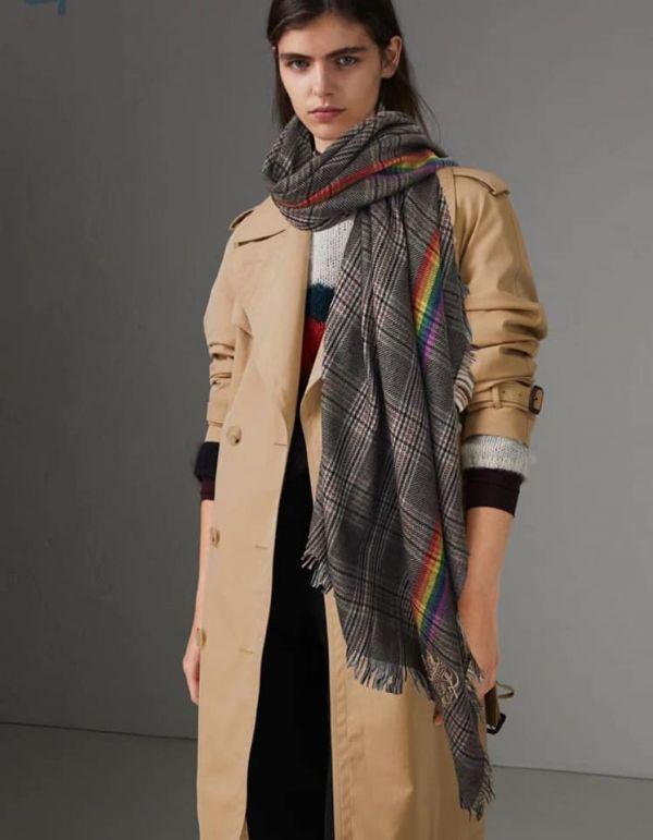 日本代購-特價BURBERRY刺繡戰馬LOGO大批肩圍巾(售價已折) 日本代購,BURBERRY,圍巾