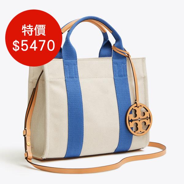 日本代購-Tory Burch 2way設計吊飾配色帆布包(共二色) agnes b.,東區時尚,帆布包