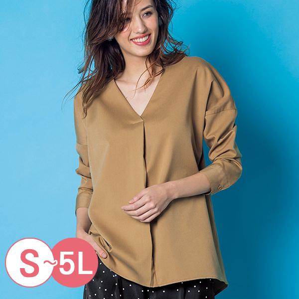 日本代購-portcros前短後長V領打褶造型上衣(共六色/S-LL) 日本代購,portcros,前短後長