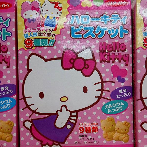 日本代購-Kitty添加鈣鐵造型餅乾 東區時尚,日本代購,Kitty