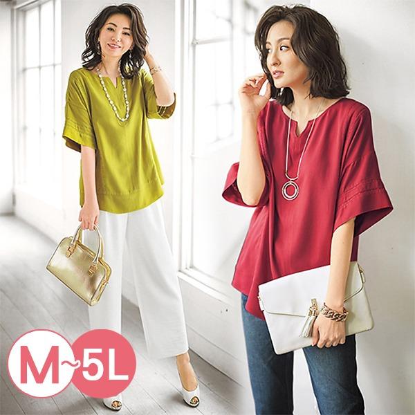 日本代購-portcros雅緻花邊寬袖造型上衣3L-5L(共四色) 日本代購,portcros,寬袖