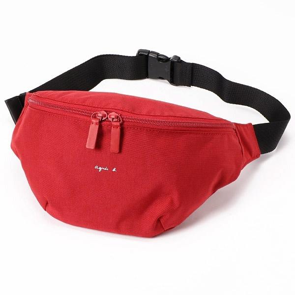 日本代購-agnes b防潑水尼龍經典logo中性款胸包/腰包(售價已折) agnes b.,東區時尚,腰包