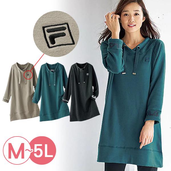 日本代購-FILA造型領長版內毛絨上衣(共三色/3L-5L) 日本代購,長版,毛絨