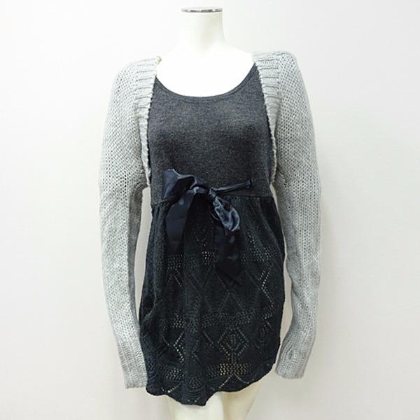 現貨-CIELO-連帽針織毛衣罩衫(灰/M) 日本空運,大尺碼,CIELO,連帽,針織,毛衣,罩衫
