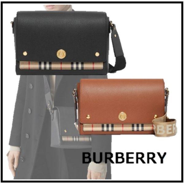 超值代購-特價BURBERRY皮革與 Vintage格紋Note斜背包(售價已折) 日本代購,BURBERRY,斜背包