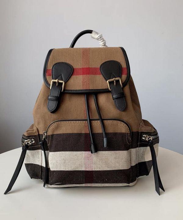 超值代購特價BURBERRY經典麻料配皮後背包(售價已折) 日本代購,BURBERRY,後背包