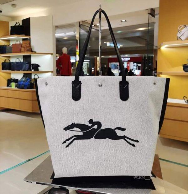 特價LONGCHAMP ROSEAU 帆布托特包大款 日本代購,Longchamp