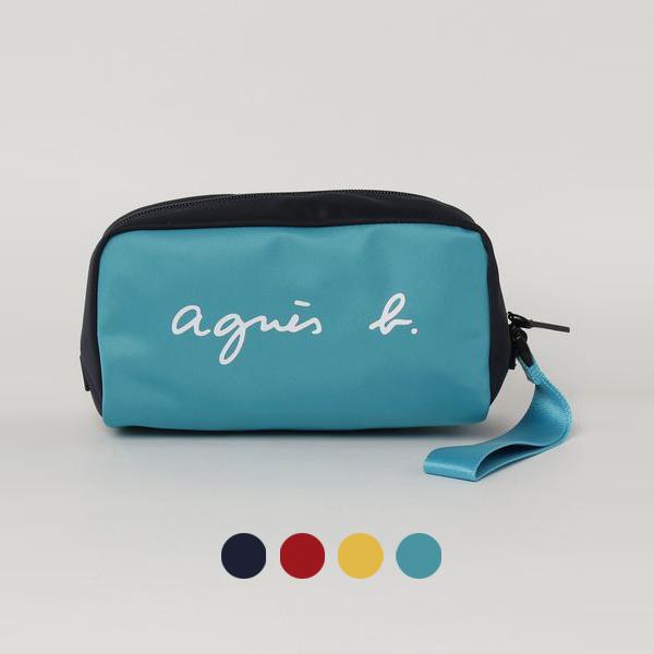 日本代購-agnes b. 街頭時尚配色收納袋手拿包 agnes b.,東區時尚,手拿包