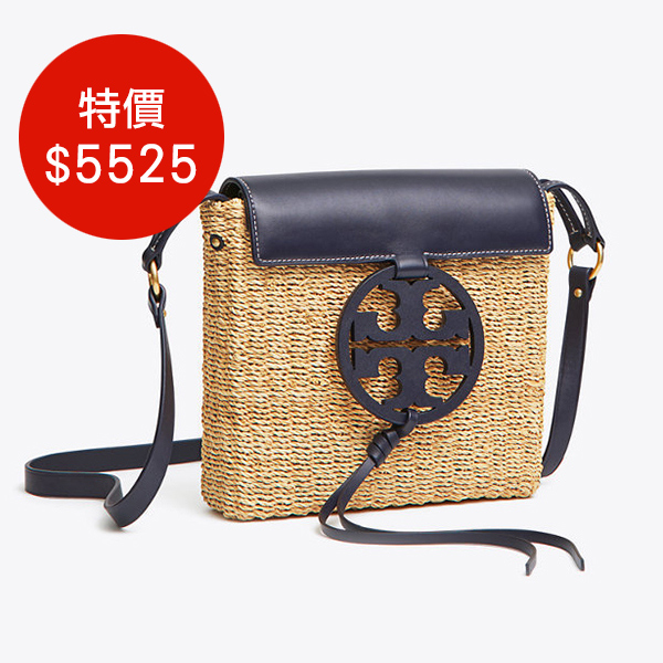 日本代購-Tory Burch logo標誌皮革拼接編織包(共三色) agnes b.,東區時尚,編織包