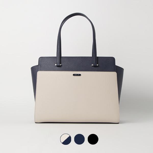 日本代購-agnes b. 雅緻防刮皮手提包單肩包 agnes b.,東區時尚,手提包