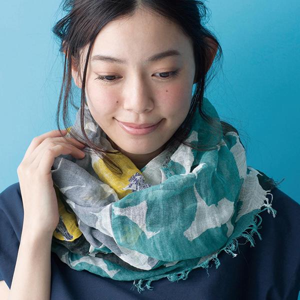 日本代購-SOU·SOU和風棉麻流蘇兩用脖圍絲巾(共六色) 東區時尚,絲巾