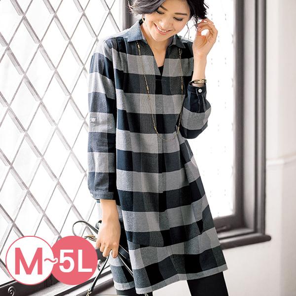 日本代購-portcros長版造型折縫格紋襯衫(共四色/M-LL) 日本代購,portcros,格紋