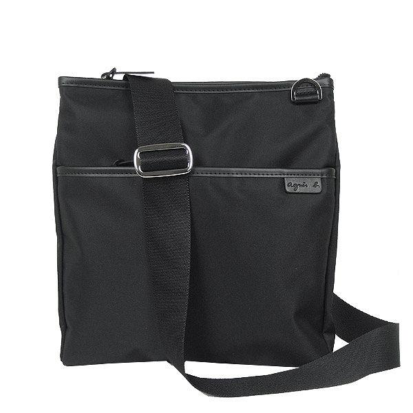 日本代購-特價agnes b. 休閒扁斜背包(黑) (售價已折) agnes b.,東區時尚,手提/肩背包
