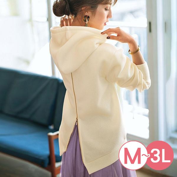 日本代購-RyuRyu mall背部拉鏈內刷毛連帽上衣(共三色/M-LL) 日本代購,RyuRyu mall,連帽