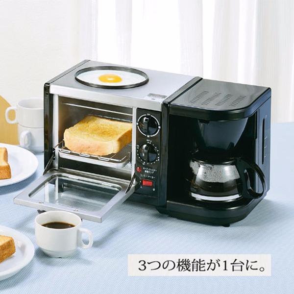 日本代購-三合一烤箱煎蛋台咖啡組 日本代購,咖啡機,烤箱,麵包機