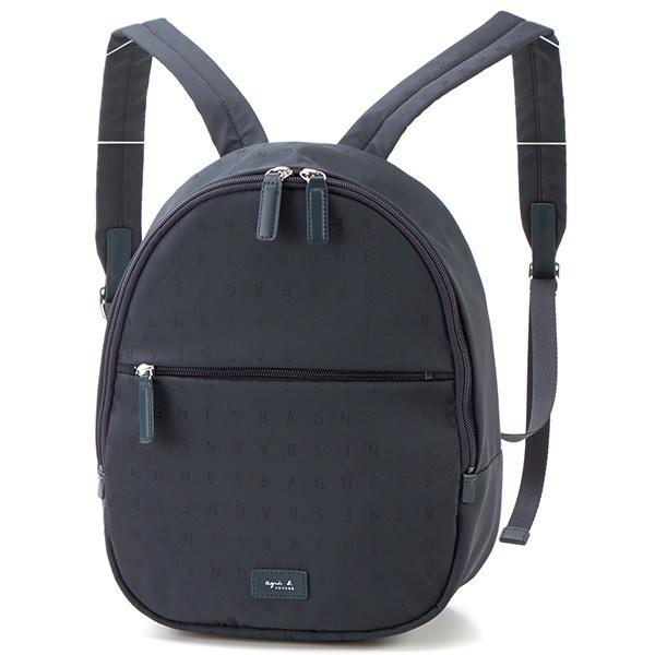 日本代購-特價agnes b 品牌logo字母浮水印防潑水尼龍後背包(售價已折) agnes b.,東區時尚,後背包