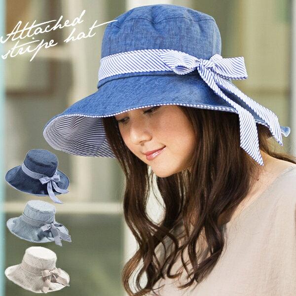 !!限時特價$750!!日本代購-條紋蝴蝶結丹寧帽 日本代購,日本帶回,東區時尚,蝴蝶結,丹寧帽