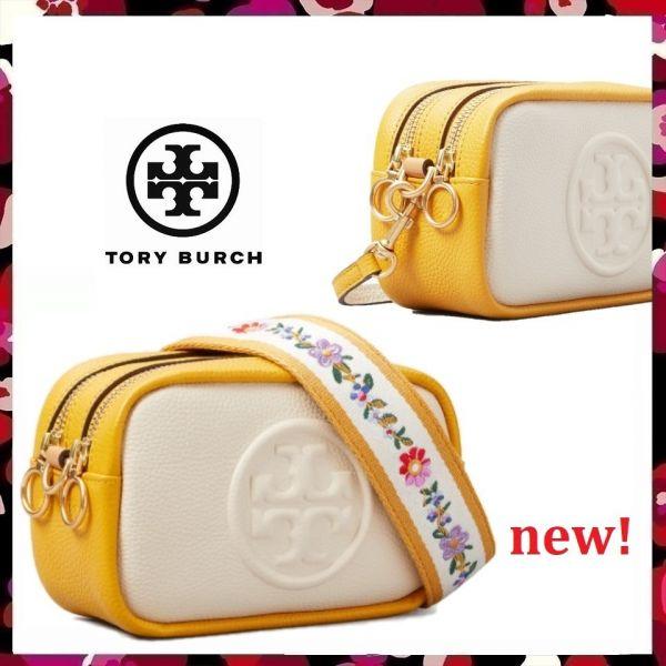Tory Burch Perry Color Block Canvas Mini Bag(共五色) Tory Burch,相機包