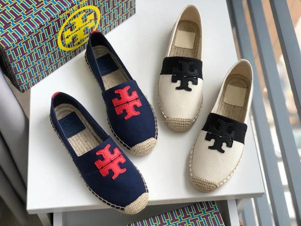 日本代購-特價TORY BURCH羊皮LOGO草編鞋(售價已折) 日本代購,Tory Burch,漁夫鞋