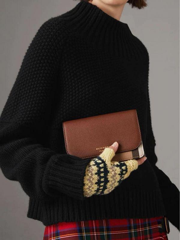 特價BURBERRY經典格紋金鍊背帶包(售價已折) 日本代購,BURBERRY,肩背包