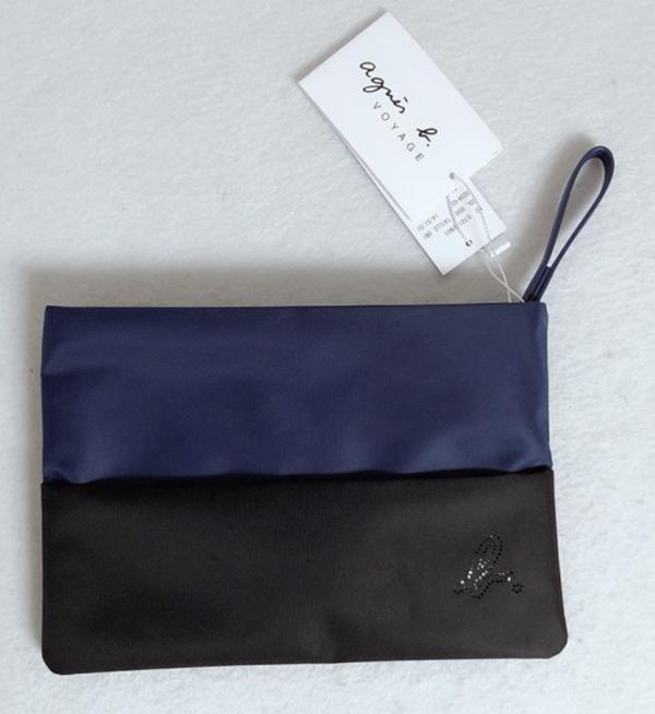 日本代購-特價agnes b.撞色收納包/化妝包/手拿包 (售價已折) agnes b.,東區時尚,收納包,化妝包,手拿包