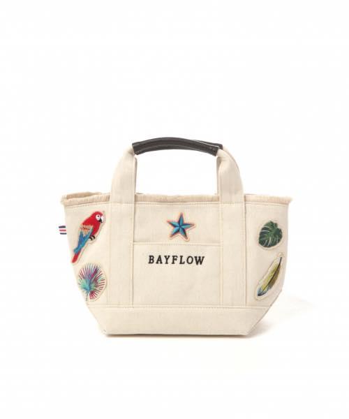 日本代購-BAYFLOW熱帶風情刺繡帆布包包S號(售價已折) 日本代購,BAYFLOW,包包