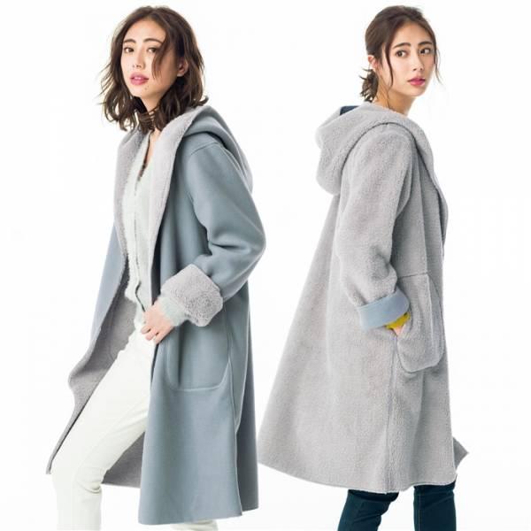 日本代購-portcros可2面翻穿雙色連帽外套(C款L) 日本代購,portcros,外套