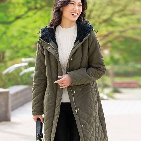 日本代購-portcros粒粒絨內裡羅紋束袖連帽大衣外套(M-LL) 日本代購,portcros,大衣