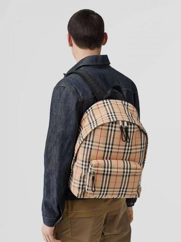 超值代購 BURBERRY  Vintage Check Nylon Backpack格紋後背包