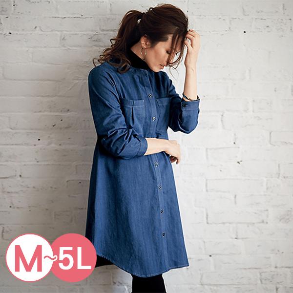 日本代購-portcros造型口袋長版牛仔襯衫(共二色/3L-5L) 日本代購,portcros,牛仔