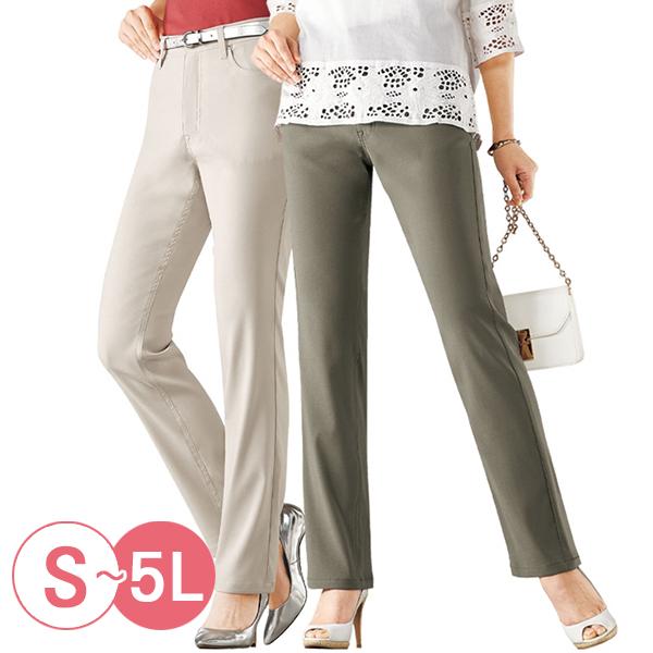 日本代購-抗菌涼感彈性機能直筒褲(共二色/S-LL) 日本代購,直筒褲,涼感