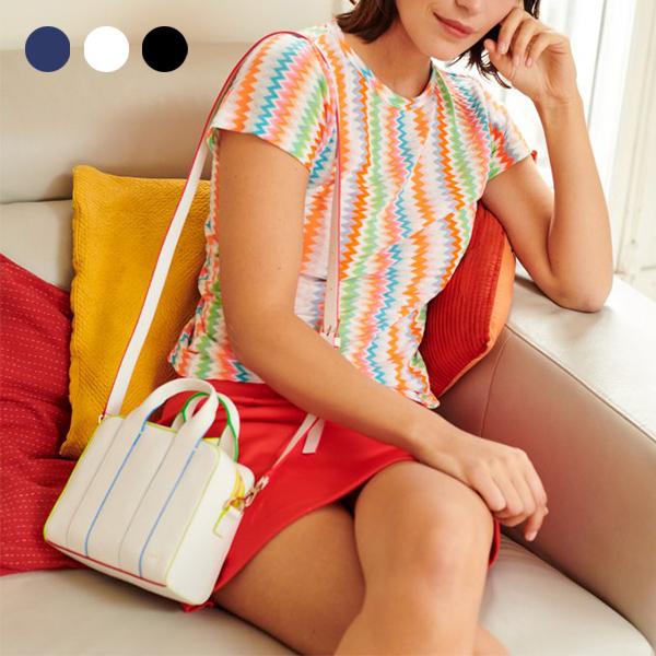日本代購-agnes b. MARiNE 2way配色滾邊波士頓包-迷你款(共三色) agnes b.,東區時尚,波士頓包
