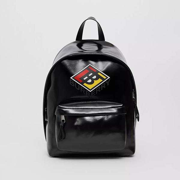 日本代購-Burberry logo圖案防水塗層帆布後背包 agnes b.,日本代購,後背包