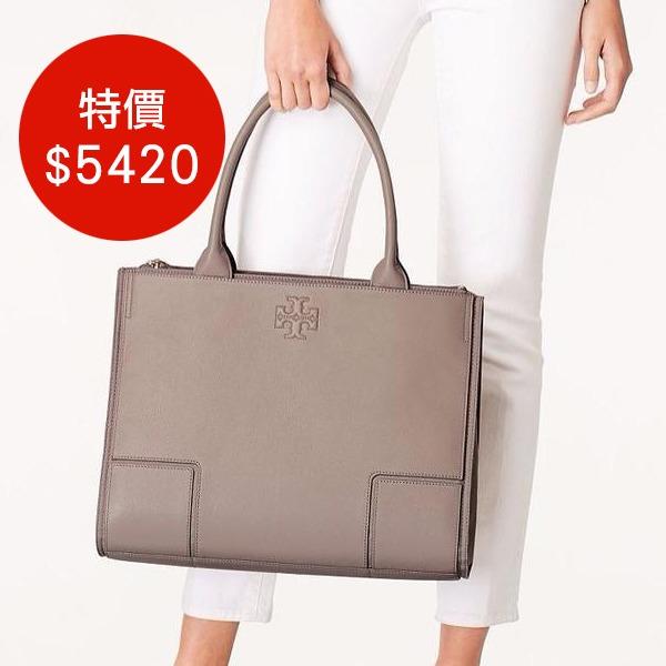 日本代購-Tory Burch簡約多夾層皮革×帆布大手提袋(共四色) agnes b.,東區時尚,手提袋