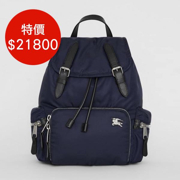 日本代購-特價BURBERRY戰馬LOGO後背包(中款)(售價已折) 日本代購,BURBERRY,後背包