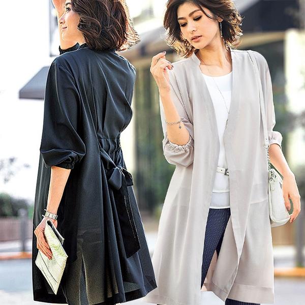 日本代購-portcros交叉腰帶2way洋裝外套(共三色/M-LL) 日本代購,portcros,上衣
