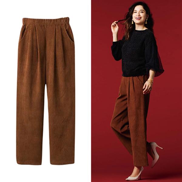 日本代購-portcros燈芯絨寬褲(共五色/3L-5L)(售價已折) 日本代購,portcros,寬褲