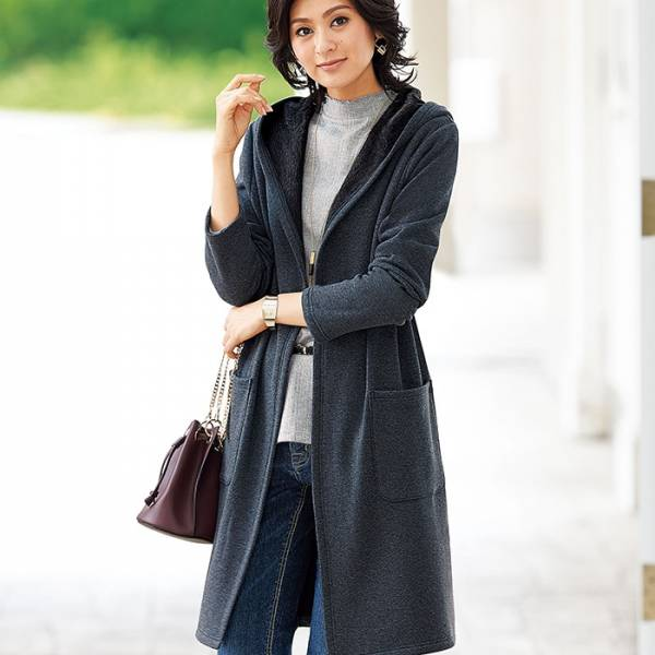 日本代購-特價portcros蓬鬆裡毛連帽長外套M-LL(售價已折) 日本代購,portcros,外套