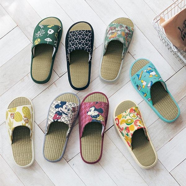 日本代購-迪士尼清爽草編防滑厚底拖鞋(共十色) 日本代購,東區時尚,拖鞋